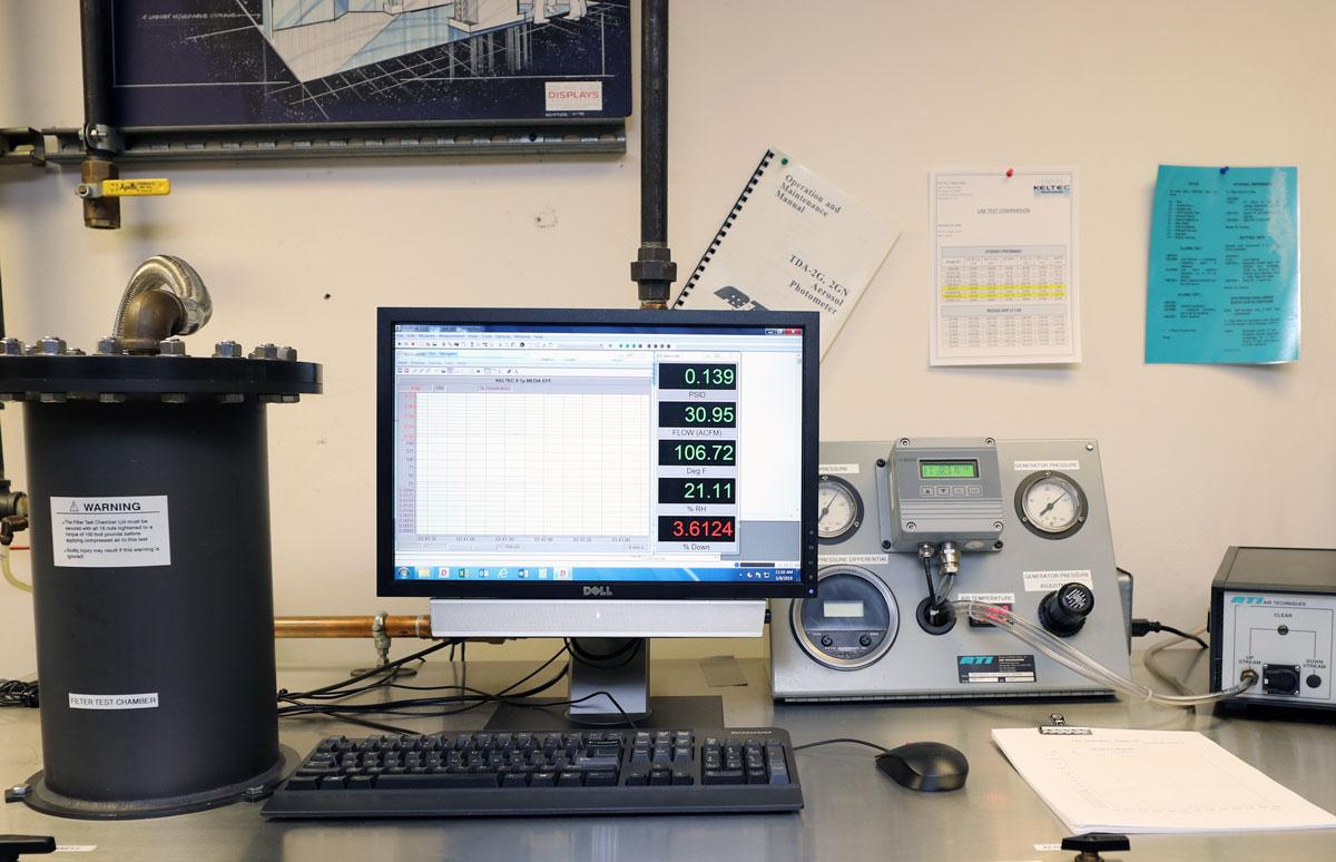 Laboratório de garantia da qualidade da Keltec