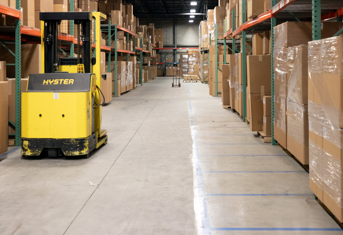 We have warehouses in Ohio, Texas, North Carolina, and California